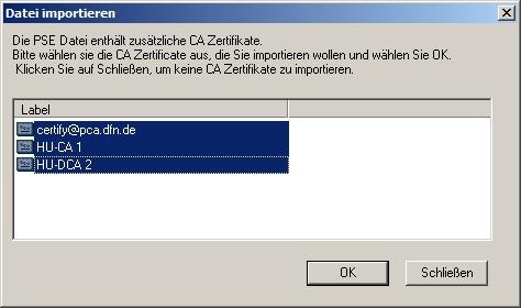 Zertifikat auf Smartcard speichern — Computer- und Medienservice