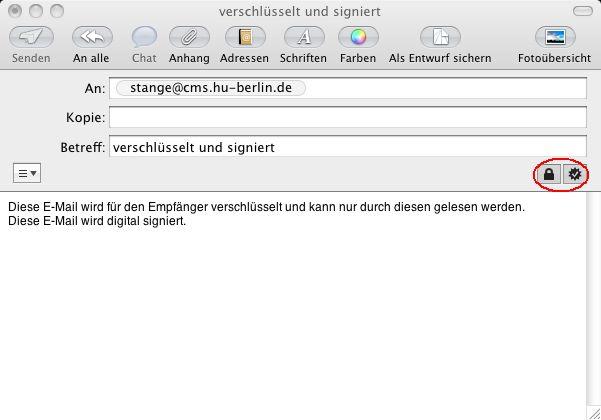 AppleMail signieren und verschlüsseln